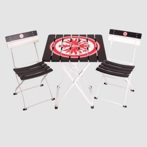 Eintracht Frankfurt small garden set with two garden chairs and a small garden table