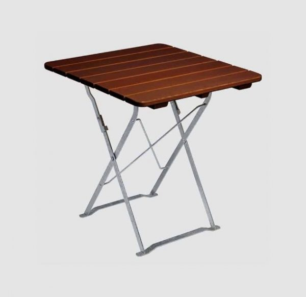 Garden table T 5190 in dark brown, slightly angled view