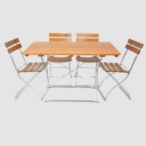 Gartenmöbel Set Tisch 120x70 - Stuhl 4x5032 von Timberson