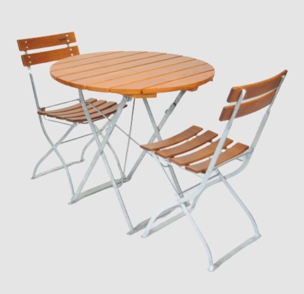 Gartenmöbel Set Tisch 80R - Stuhl 2x5032 von Timberson