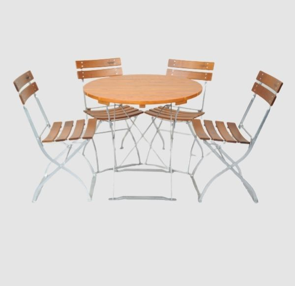 Gartenmöbel Set Tisch 80R - Stuhl 4x5032 von Timberson
