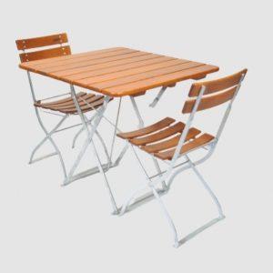 Gartenmöbel Set Tisch 80x80 - Stuhl 2x5032 von Timberson