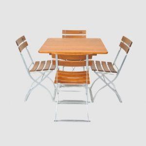 Gartenmöbel Set Tisch 80x80 - Stuhl 4x5032 von Timberson